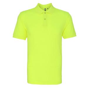 neon yellow polo shirt