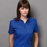Kustom Kit Ladies Corporate Short Sleeve Oxford Shirt