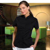 Bargear Ladies Short Sleeveed Bar Shirt Mandarin Collar