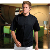 Bargear Mens Short Sleeved Bar Shirt Mandarin Collar