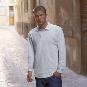 Fruit of the Loom Mens Premium Long Sleeve Cotton Polo Shirt aqImX