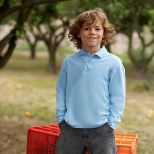 7f3e7a55f Qtag Home » Polo Shirts » Childrens Polo Shirts » Fruit of the Loom  Children s Long Sleeve Polo · «