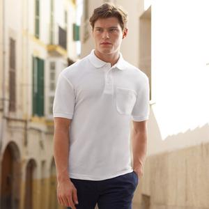 09e0e1379e3 Qtag Home » Polo Shirts » Mens Poly Cotton Polo Shirts » Fruit of the Loom  Pocket Polo Shirt · «