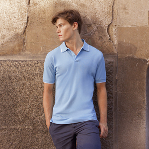 fe3f920a Qtag Home » Polo Shirts » Mens Cotton Polo Shirts » Fruit of the Loom Tipped  Pique Polo Shirt · «