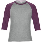 Anvil Adult Tri-Blend 3/4 Sleeve Raglan Tee