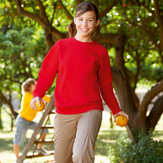 Fruit Of The Loom Children's Raglan Sleeve Sweatshirt