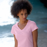 Fruit Of The Loom Lady-Fit Valueweight V Neck T